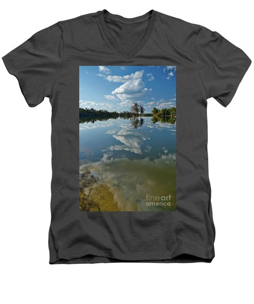 Reflections By The Lake Men's V-Neck T-Shirt