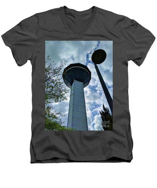 Restaurant In The Clouds Men's V-Neck T-Shirt