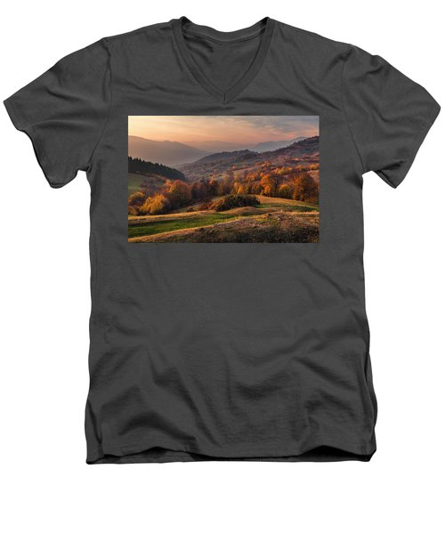 Rhodopean Landscape Men's V-Neck T-Shirt
