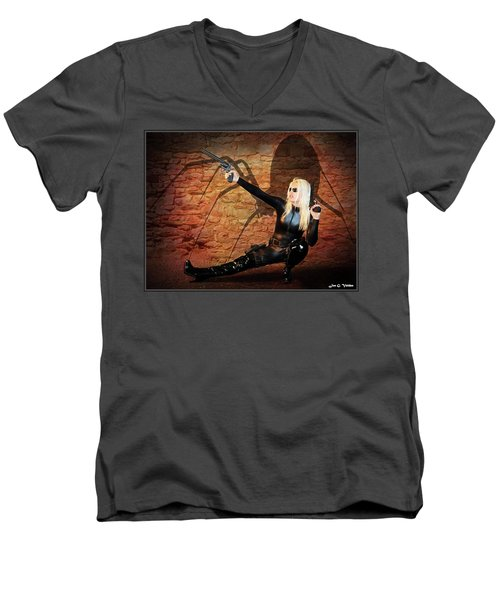 Rise Of The Black Widow Men's V-Neck T-Shirt