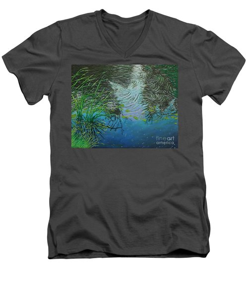 River ...ripples And Reeds Men's V-Neck T-Shirt
