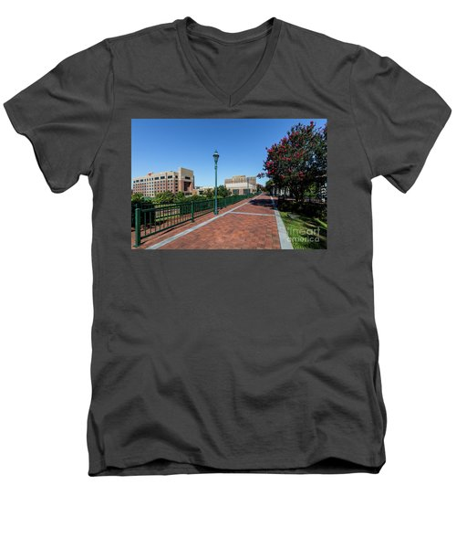 Riverwalk Downtown Augusta Ga Men's V-Neck T-Shirt