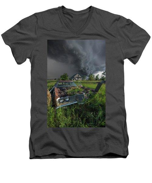 Road's End  Men's V-Neck T-Shirt