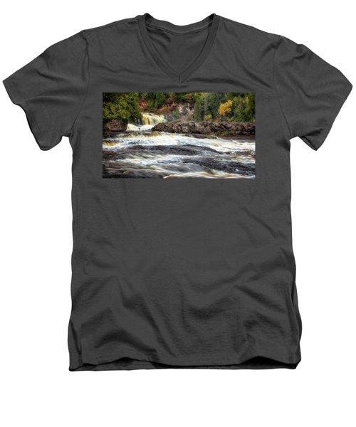 Roaring Gooseberry Falls Men's V-Neck T-Shirt