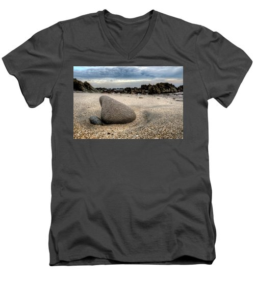 Rock On Beach Men's V-Neck T-Shirt