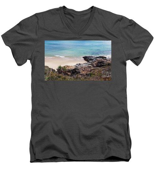 Rocks Sand And Water  Men's V-Neck T-Shirt