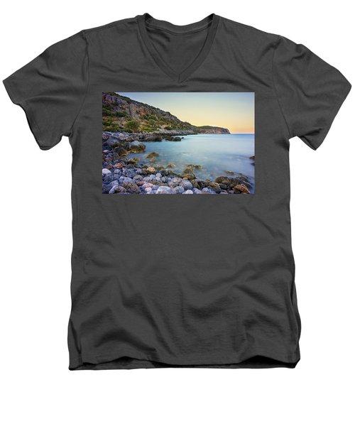 Rocky Coast Near Monemvasia Men's V-Neck T-Shirt