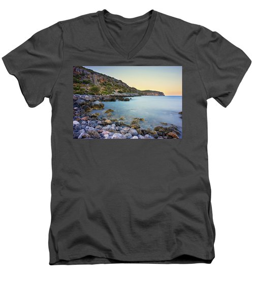 Rocky Coast Near Monemvasia Men's V-Neck T-Shirt