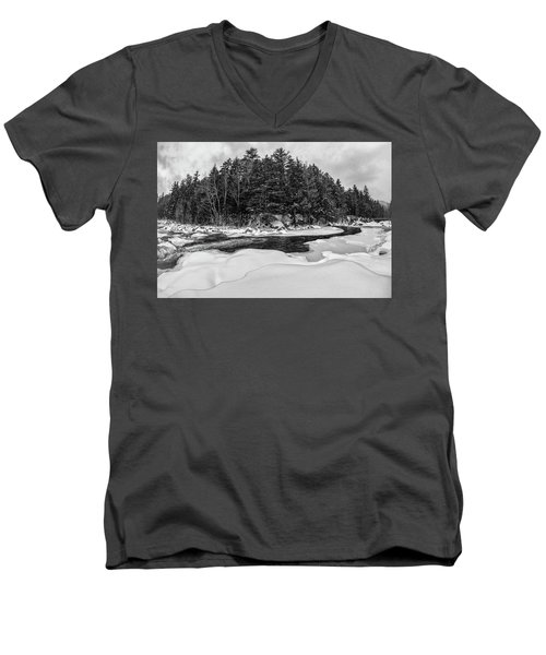 Rocky Gorge N H, River Bend 1 Men's V-Neck T-Shirt