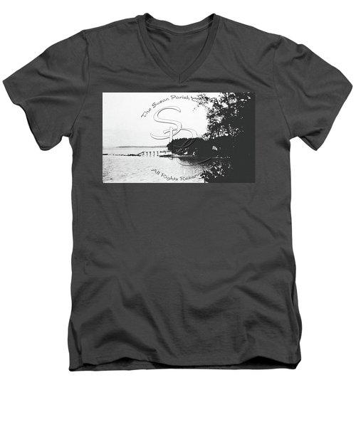 Rohr's Dock, Boston Harbor, 1932 Men's V-Neck T-Shirt