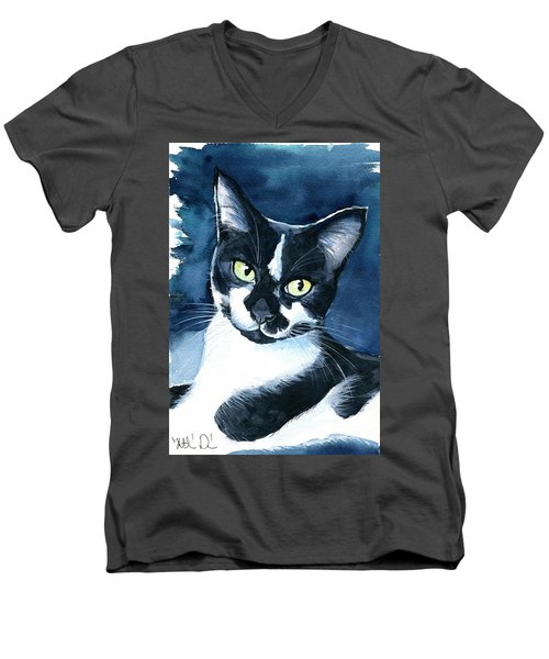 Rollie Tuxedo Cat Painting Men's V-Neck T-Shirt