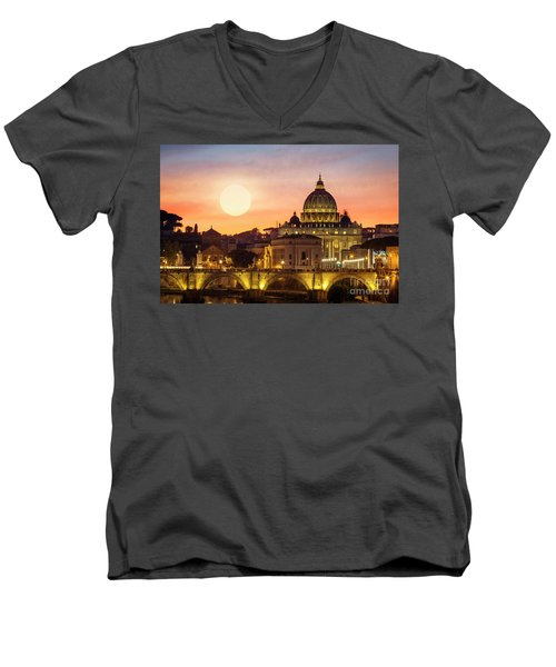 Roman Sunset Men's V-Neck T-Shirt
