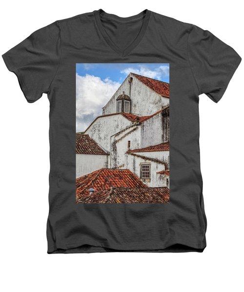 Rooftops Of Obidos Men's V-Neck T-Shirt