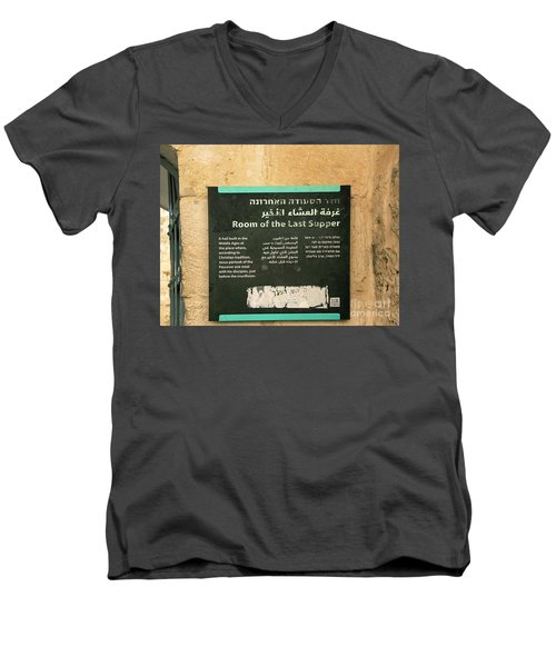 Men's V-Neck T-Shirt featuring the photograph Room Of The Last Supper by Mae Wertz