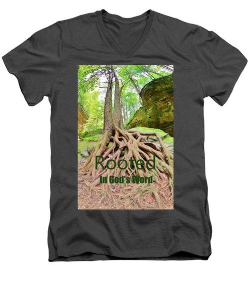 Rooted In God's Word Men's V-Neck T-Shirt