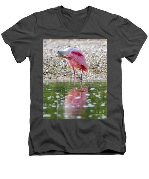 Roseate Spoonbil Men's V-Neck T-Shirt