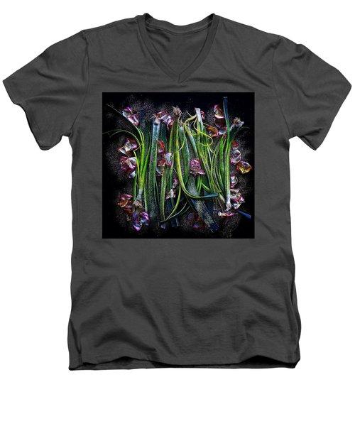 Rosy Leeks Men's V-Neck T-Shirt