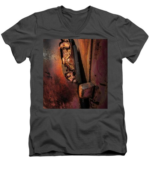 Rusty Hinge Men's V-Neck T-Shirt