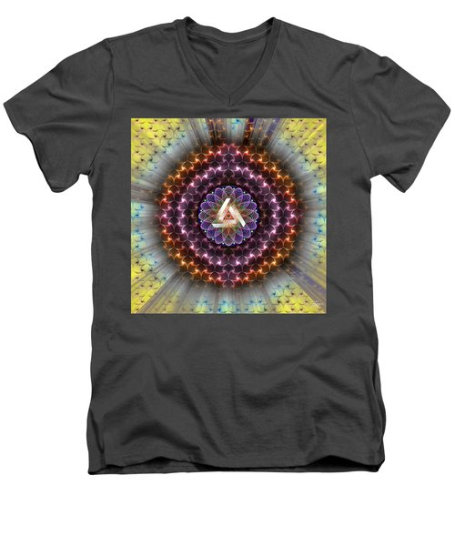 Sacred Geometry 742 Men's V-Neck T-Shirt