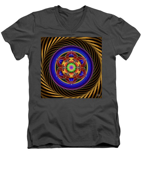 Sacred Geometry 763 Men's V-Neck T-Shirt