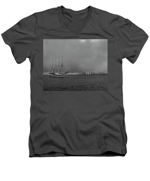 Sail In The Fog Men's V-Neck T-Shirt