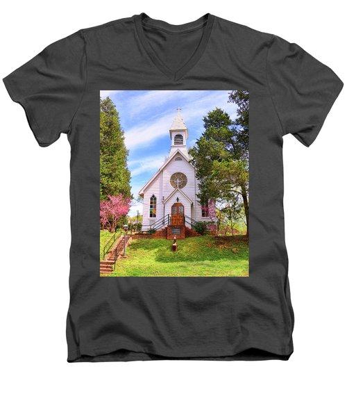 Saint Joseph Roman Catholic Church In Columbia Virginia Men's V-Neck T-Shirt