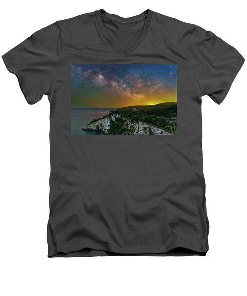 San Felice Arch And Tower Men's V-Neck T-Shirt