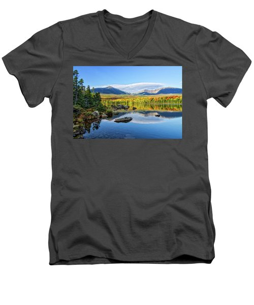 Sandy Stream Pond Baxter Sp Maine Men's V-Neck T-Shirt