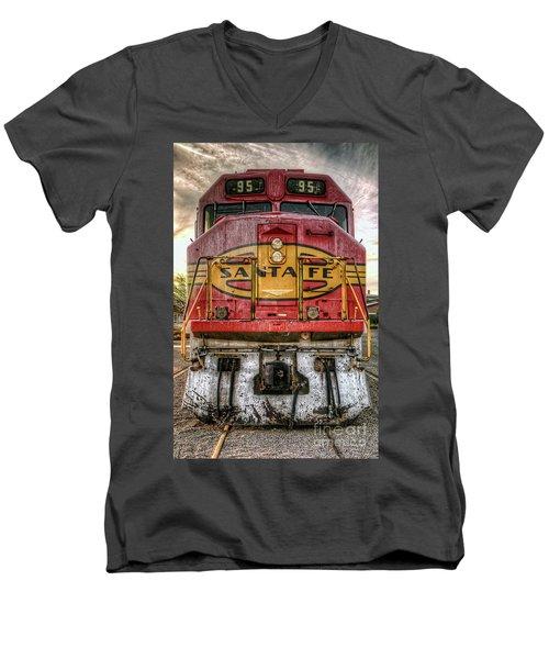 Santa Fe Train Engine Men's V-Neck T-Shirt