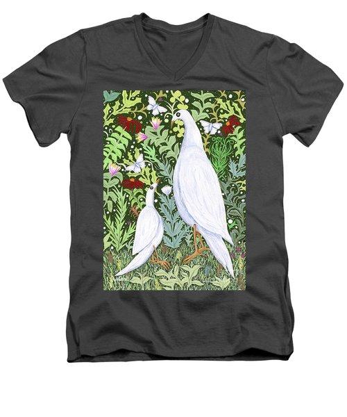 Sapientes Pacis Birds Men's V-Neck T-Shirt
