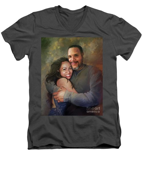 Sara And Ahmed Men's V-Neck T-Shirt