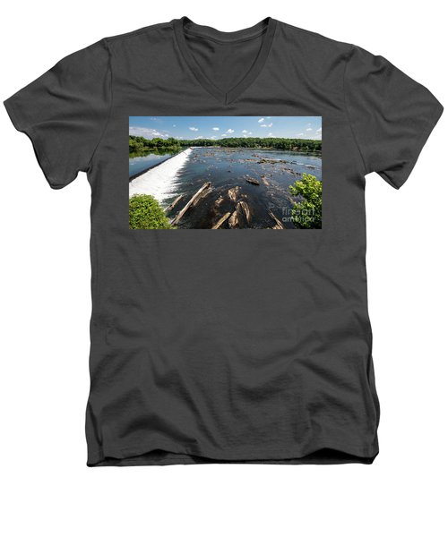 Savannah River Rapids - Augusta Ga Men's V-Neck T-Shirt