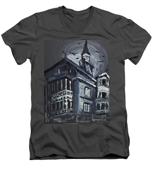 Scary Old House Men's V-Neck T-Shirt