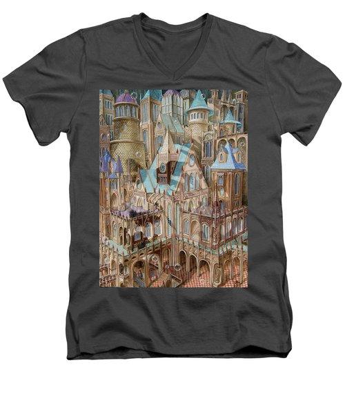 Science City Men's V-Neck T-Shirt