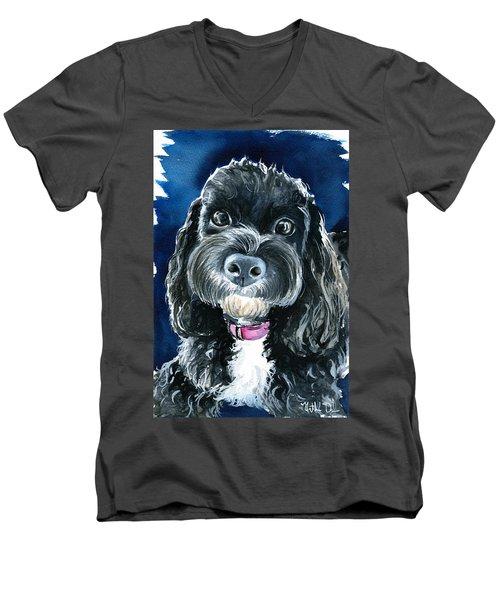 Scout - Cavoodle Dog Painting Men's V-Neck T-Shirt