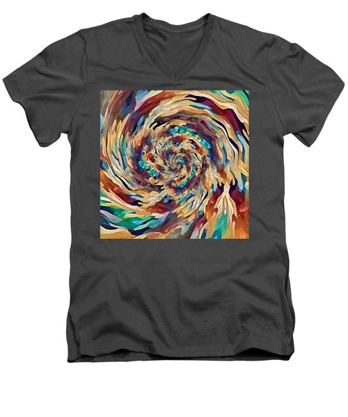 Sea Salad Swirl Men's V-Neck T-Shirt