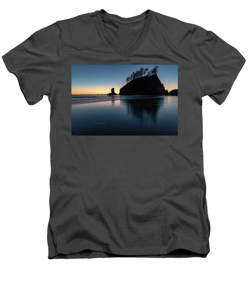 Sea Stack Silhouette Men's V-Neck T-Shirt