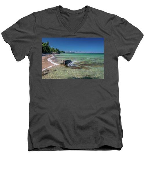 Secluded Beach Men's V-Neck T-Shirt