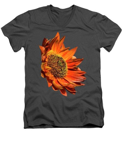 Selective Color Sunflower Men's V-Neck T-Shirt