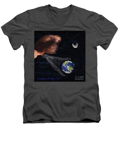 Sending You My Love Men's V-Neck T-Shirt