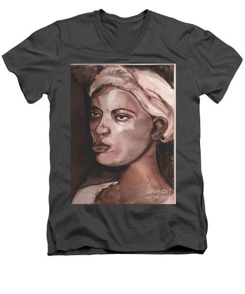 Sepia Woman Men's V-Neck T-Shirt