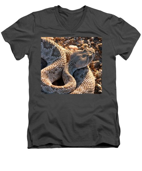 Men's V-Neck T-Shirt featuring the photograph Serpent Of The Southwest by Judy Kennedy