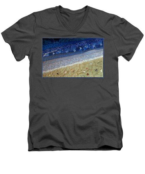 She Sews Seashells On The Seashore Men's V-Neck T-Shirt