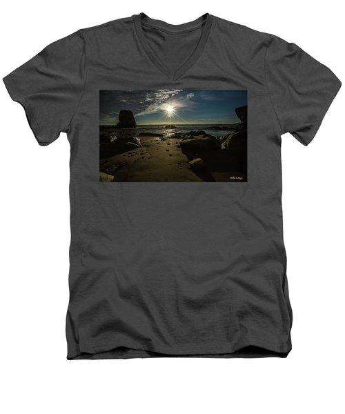 Shell Beach Sunburst Men's V-Neck T-Shirt