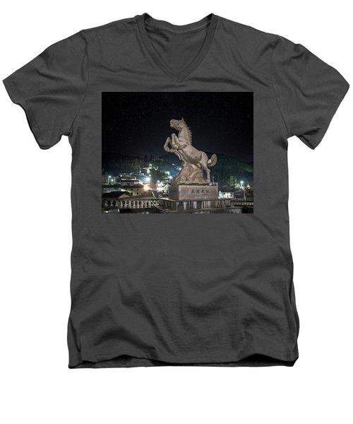 Shima Village Starry Night Men's V-Neck T-Shirt