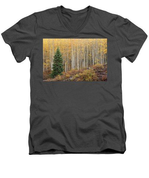 Shimmering Aspens Men's V-Neck T-Shirt