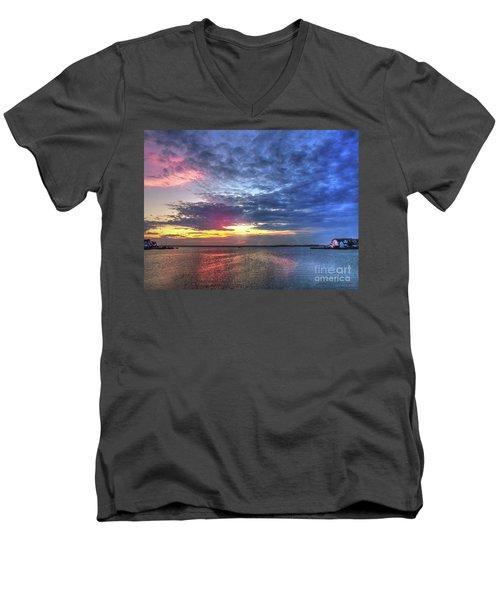 Ship Bottom Sunset Men's V-Neck T-Shirt