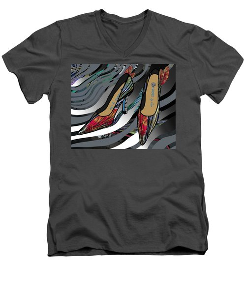 Shoes By Joan - Dragon Fly Wing Pumps Men's V-Neck T-Shirt