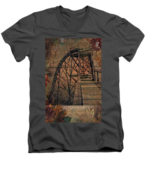 Shoot The Chute Men's V-Neck T-Shirt