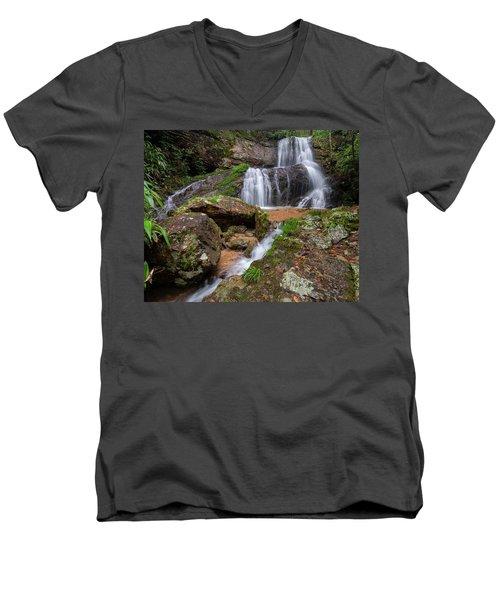 Shu Nu Waterfall 8x10 Horizontal Men's V-Neck T-Shirt
